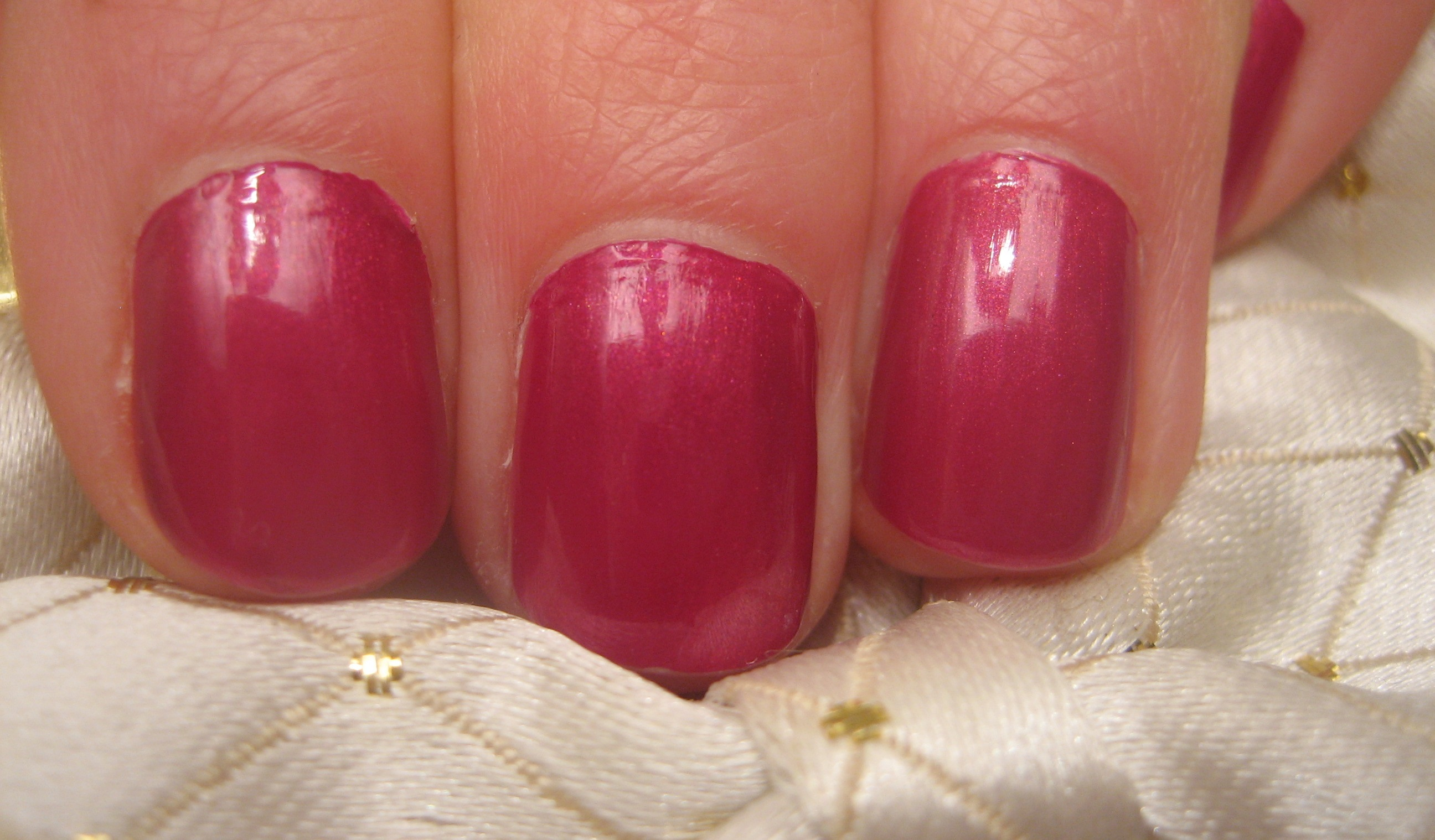 Metallic Pink Nails