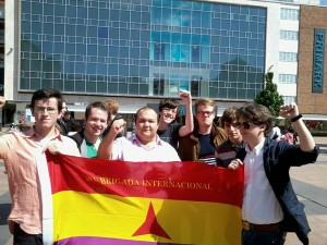 Warwick Labour students at a protest last year. Photo: Will Tucker