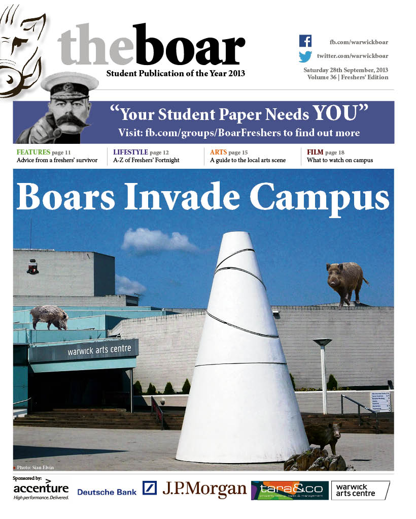 Freshers front page