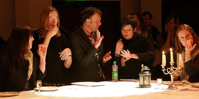 Audience participation during a 2010 performance of 'Eat Your Heart Out' at the Warwick Arts Centre. Rémi Kaupp / Flickr