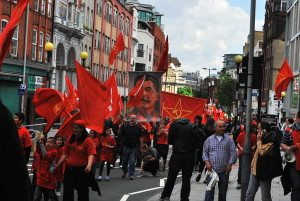 Communists march in London
