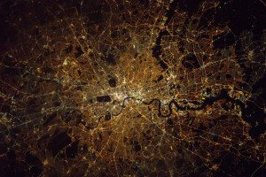 What a view - Tim's photo of London at night. Image: Tim Peake / Twitter