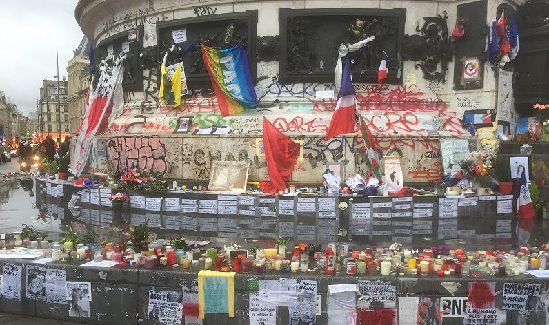 paris attacks tribute memorial terrorism rip bataclan place de la republique france isis daesh eagles of death metal
