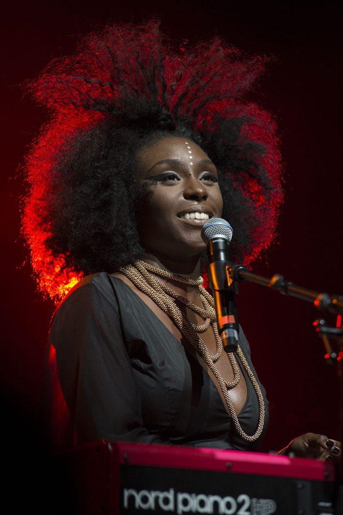 Laura Mvula en concert au Montreux Jazz Festival. Montreux, juillet 2014 stills / Antonio Marmolejo