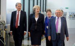 Theresa May and Phillip Hammond at WMG. Photo: Warwick Media Library