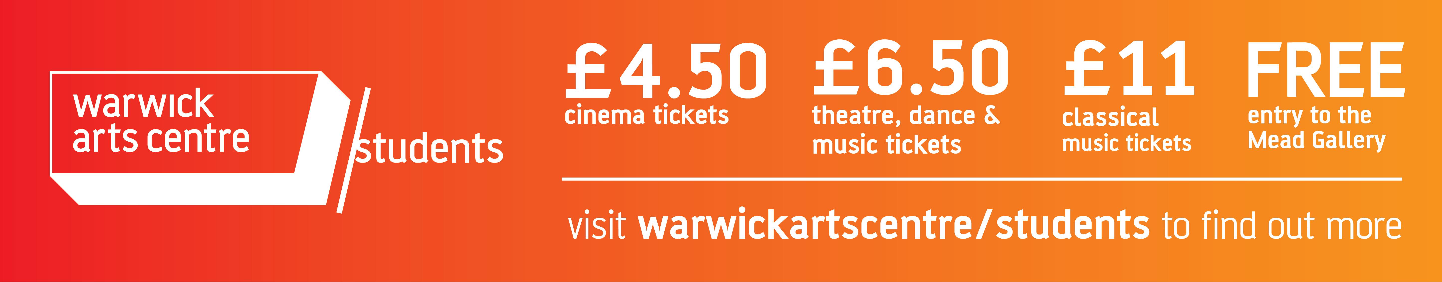 Warwick Arts Centre Banner