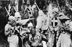 Still from the racist 'Birth of a Nation' from 1915/ Image from Flickr