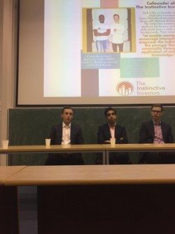 Image: Chiara Castrovillari, Benjamin Hillyard/Boar Finance (from left to right): Jack Jacobs, alongside Rav Singh Sandhu of The Market Mogul, and Charles Riley of CNNMoney, at The Boar's Finance Journalism Forum.