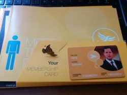 Lib Dem membership card