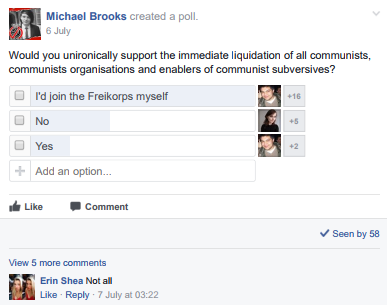 Anti-communist poll by Brooks suggests support for Freikorps.
