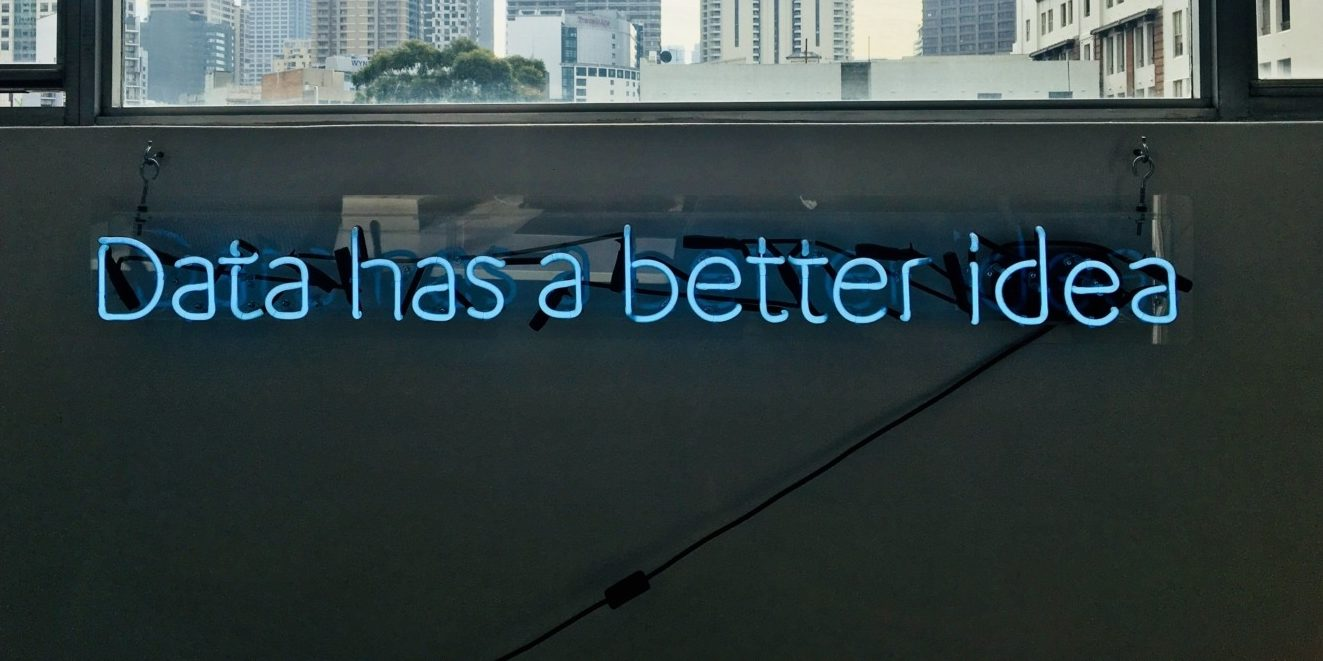 """Data has a better idea"" written in neon lights"