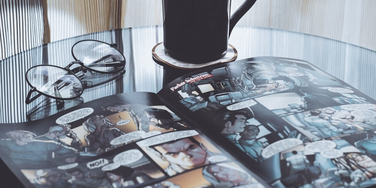 Comic book on table - Marvel