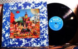 vinyl recording and cover of The Rolling Stones album