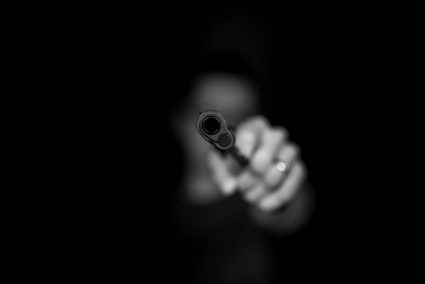 Unclear Figure with Gun