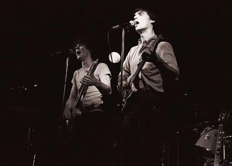 Talking Heads on stage