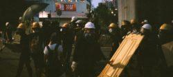 Protesters in Hong Kong