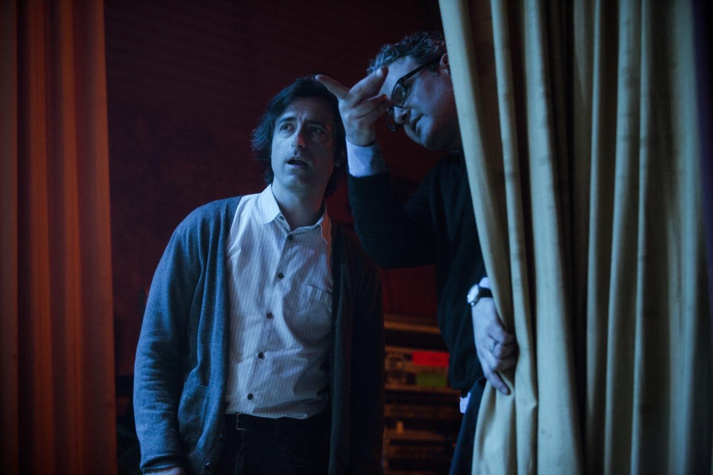 Noah Baumbach on set for 'Mistress America'