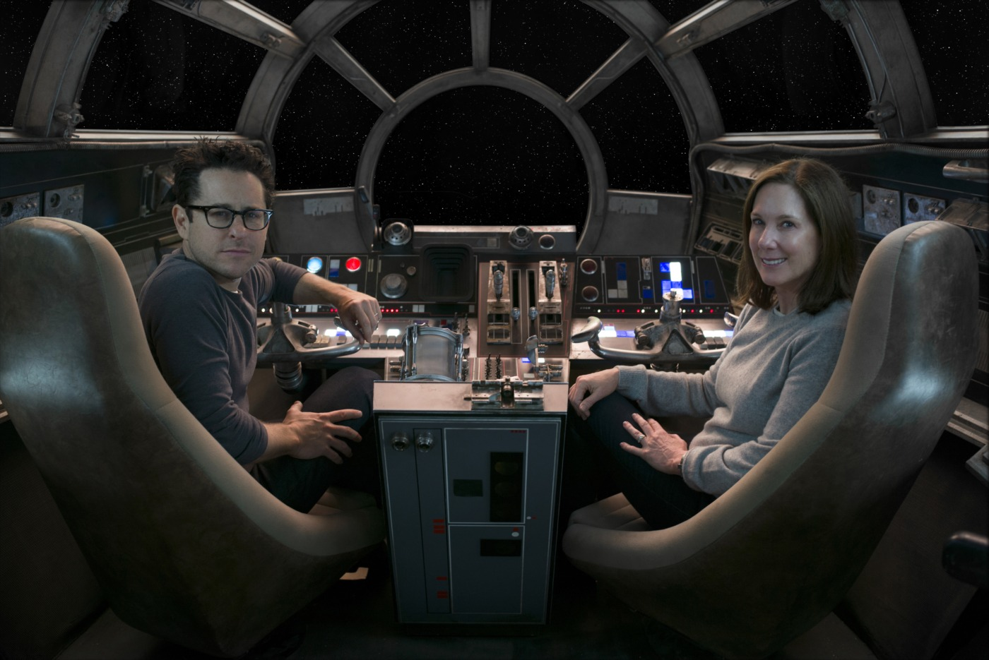 J.J. Abrams and Kathleen Kennedy