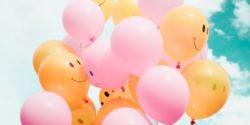 happy sad mood balloons