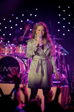 Mariah Carey performing live