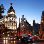 city of Madrid image, gran via in the evening