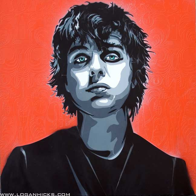 Artwork of Billie Joe Armstrong