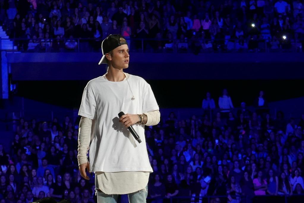 Justin Bieber performing live