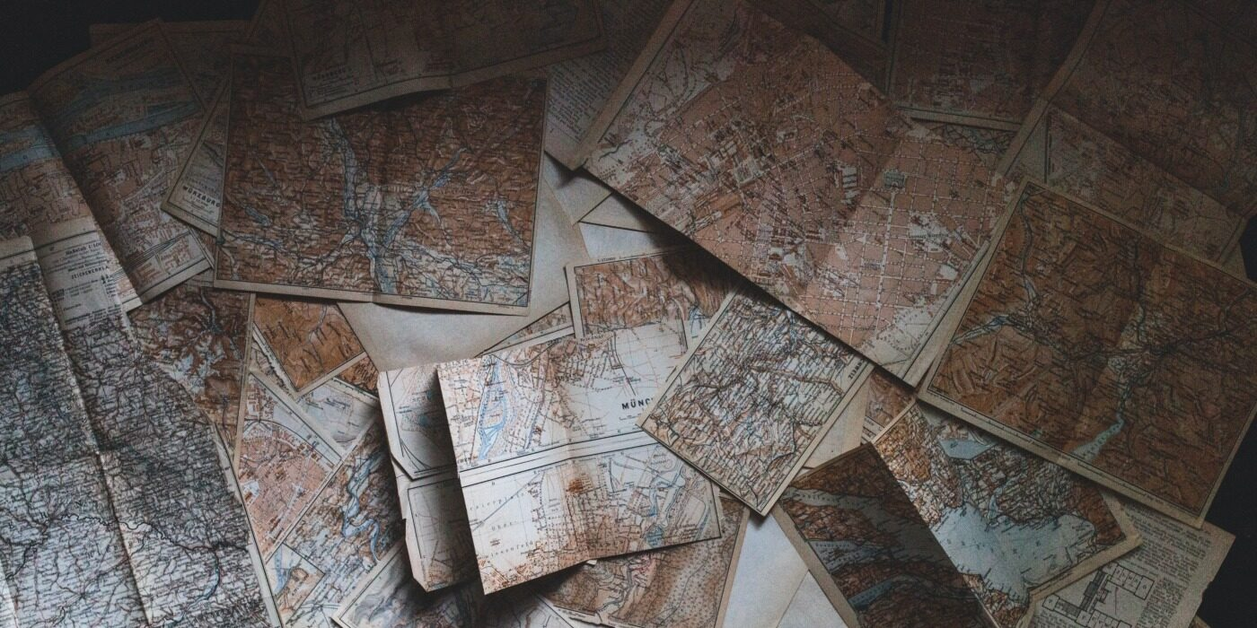 Maps Lying On Floor